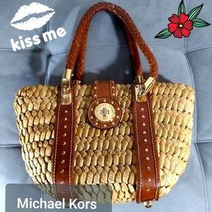 Michael kors Woven Straw Handbag